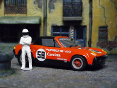"""The Stig"" with AFX Porsche 914/6."