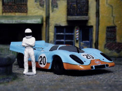 """The Stig"" with AFX Porsche Gulf 917."
