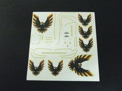 1/64 / HO Smokey & The Bandit T/A slot car decals.