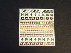 1/64 / HO slot car decals Sponsors Sheet # 3.
