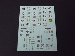 1/64 / HO Sponsors Sheet #58 slot car decals.
