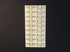 1/64 / HO slot car decals, NASCAR sponsors 2008.