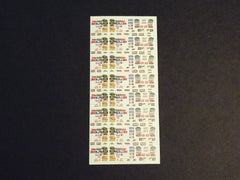 1/64 / HO slot car decals, NASCAR sponsors 2009.