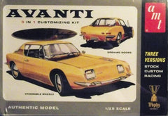 1/25 Avanti 3 in 1 customizing plastic model car kit.