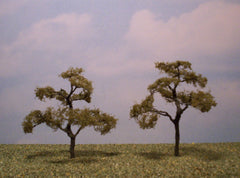 "Beech 3"" Pro Series 2 Pk. trees for dioramas & slot car layouts."