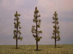 "Cedar 4"" Pro Series 3 Pk. trees for dioramas & slot car layouts."