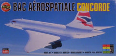 1/144 scale Concorde airliner plastic model airplane kit.