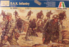 1/72 WW 2 D.A.K. Infantry military figures.