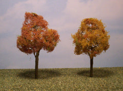 "Deciduous Autumn 3.5""-4"" Premium Series 2 Pk. trees for dioramas."