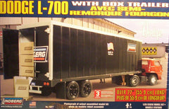 1/25 Dodge L-700 model truck kit with box trailer.
