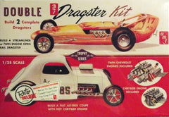1/25 scale 1960's dragster model car kit.