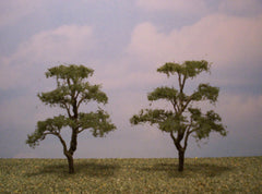 "Elm 4"" Pro Series 2 Pk. trees for dioramas & slot car layouts."
