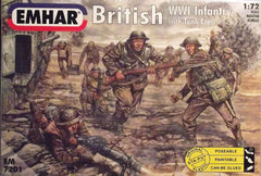 Emhar 1/72 WW 1 British Infantry with tank crew military figures.