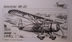 1/72 Fairchild KR-22 resin model airplane kit.