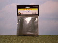 Light green field grass scenic material for dioramas & slot car scenery.