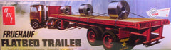 1/25 Fruehauf flat bed trailer model kit with payload.