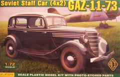 1/72 scale Gaz-11-73 WW2 Soviet staff car model kit.