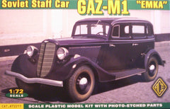 "1/72 Gaz-M 1 ""Emka"" Soviet staff car military vehicle model kit."