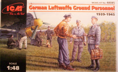 1/48 WW 2 German Luftwaffe ground personal military figures.