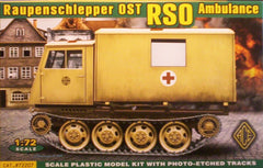 1/72 scale WW2 German RSO Ambulance military vehicle model kit.