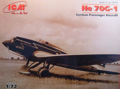 1/72 He 70G -1 German passenger aircraft model kit.