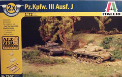 1/72 Pz.Kpfw.III Ausf. J tanks. 2 model AFVs in one box.