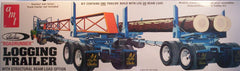 1/25 logging trailer model kit with logs and steel beams payload.