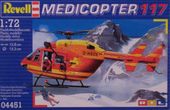 1/72 Medicopter 117 civil model helicopter kit.