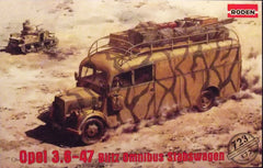 1/72 WW 2 German Army Opel Stabswagon model bus kit.