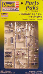 1/25 Parts Paks Pontiac 421 V8 engine model car kit.