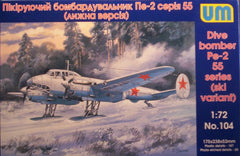 1/72 Pe-2 WW 2 Soviet dive bomber military model aircraft kit.