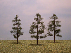 "Pine 3"" Pro Series 3 Pk. trees for dioramas & slot car layouts."