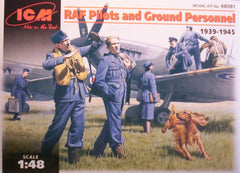 1/48 RAF pilots & ground personnel military figures.