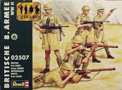 1/72 WW 2 British 8th Army military figures.