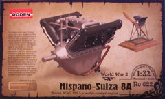 1/32 Hispano-Suiza 8A airplane engine plastic model kit.