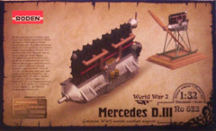 1/32 Mercedes D.III model aircraft engine kit.