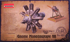 1/32 Gnome Monosoupape 9B aircraft engine model kit.