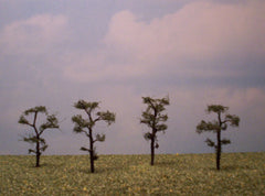 "Scots Pine 2"" Pro Series 4 Pk. trees for dioramas & slot car layouts."