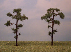 "Scots Pine 4"" Pro Series 2 Pk. trees for dioramas & slot car layouts."