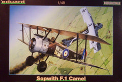 1/48 WW 1 Sopwith F.1 Camel ProfiPack model aircraft kit.