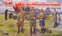 1/48 WW 2 Soviet Air Force pilots & personnel military figures.