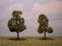 "Sycamore 3.5""-4"" Premium Series 2 Pk. trees for dioramas & slot car sets."