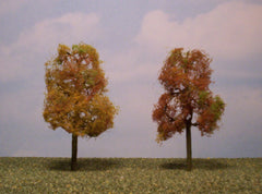 "Sycamore Autumn 3.5""-4"" Premium Series 2 Pk. trees for dioramas."