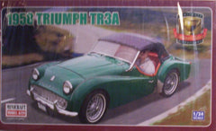 1/24 1958 Triumph TR-3A model car kit.