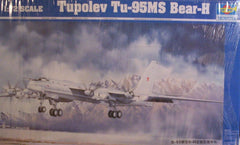 1/72 Tu-95MS Bear-H Russian bomber model aircraft kit.