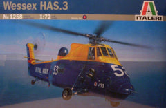 1/72 Wessex HAS.3 military helicopter model kit.