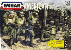 Emhar 1/72 WW 1 American Infantry military figures.