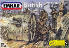 Emhar 1/72 WW 1 British Artillery & 18 pdr. Gun military figures.