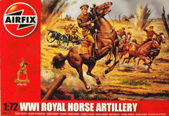 1/72 WW 1 British Royal Horse Artillery military figures.