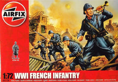 1/72 WW 1 French Infantry military figures.